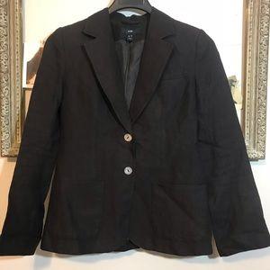H&M Brown Linen Like Blazer